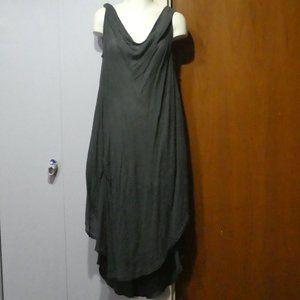 Glam & fame Flowy Grey Dress